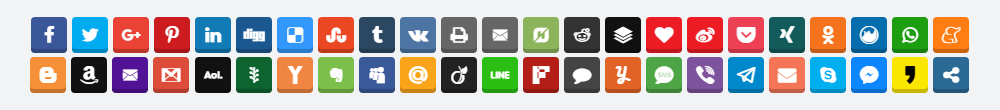 Social Share Buttons Example