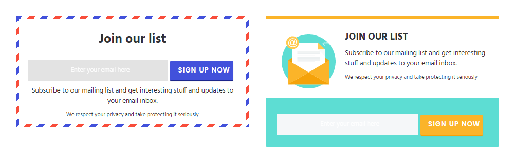 Display Email Optin Forms