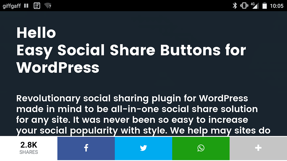 Mobile Friendly Share Bar