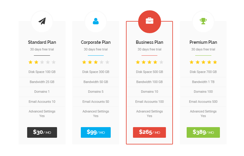 EXE Theme Review Pricing Table 02