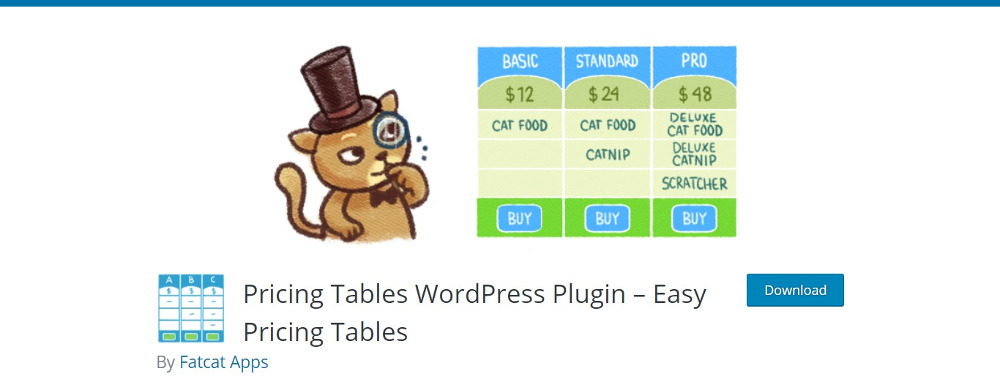 WordPress Pricing Table Plugins: Easy Pricing Tables