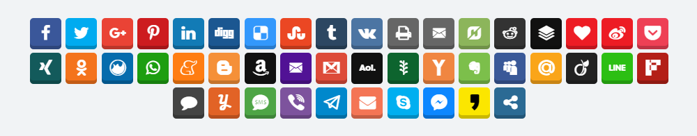 Easy Social Share Buttons for WordPress Review Icons