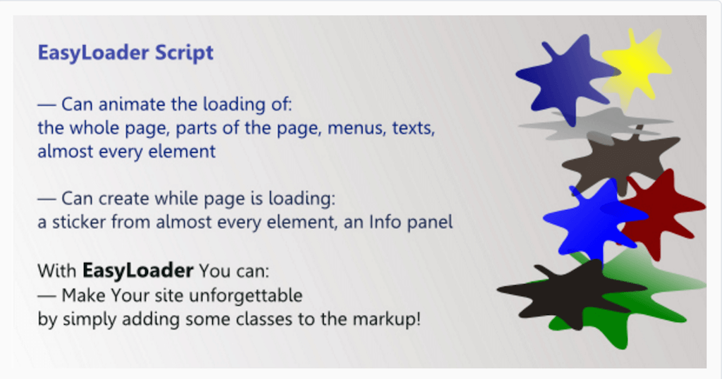 EasyLoader JavaScript Library for Page Loading JavaScript CodeCanyon