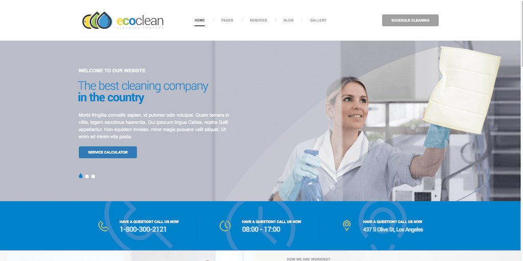 With A Professional Layout And Simple Page Builder The Ecoclean Couldn T Be Easier To Maintain