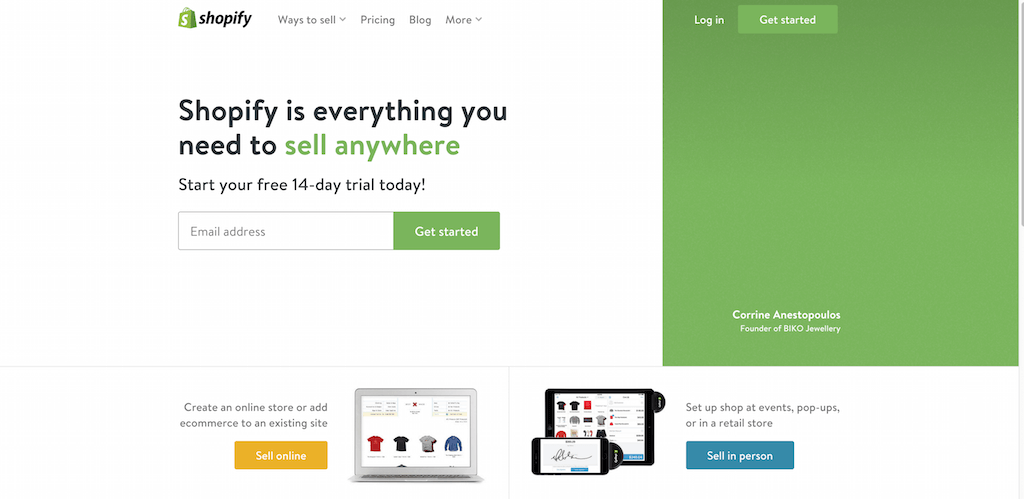 Ecommerce Software Online Store Builder POS Free 14 day Trial by Shopify