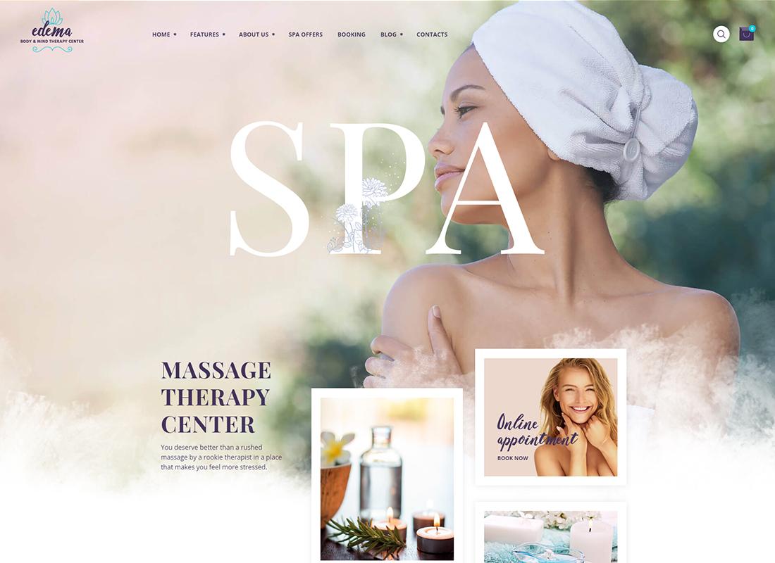 Edema - Wellness & Spa WordPress Theme