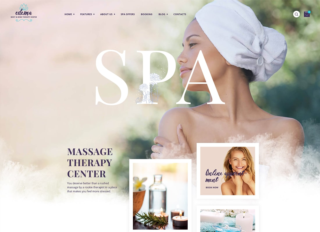Edema | Wellness & Spa Luxury WordPress Theme