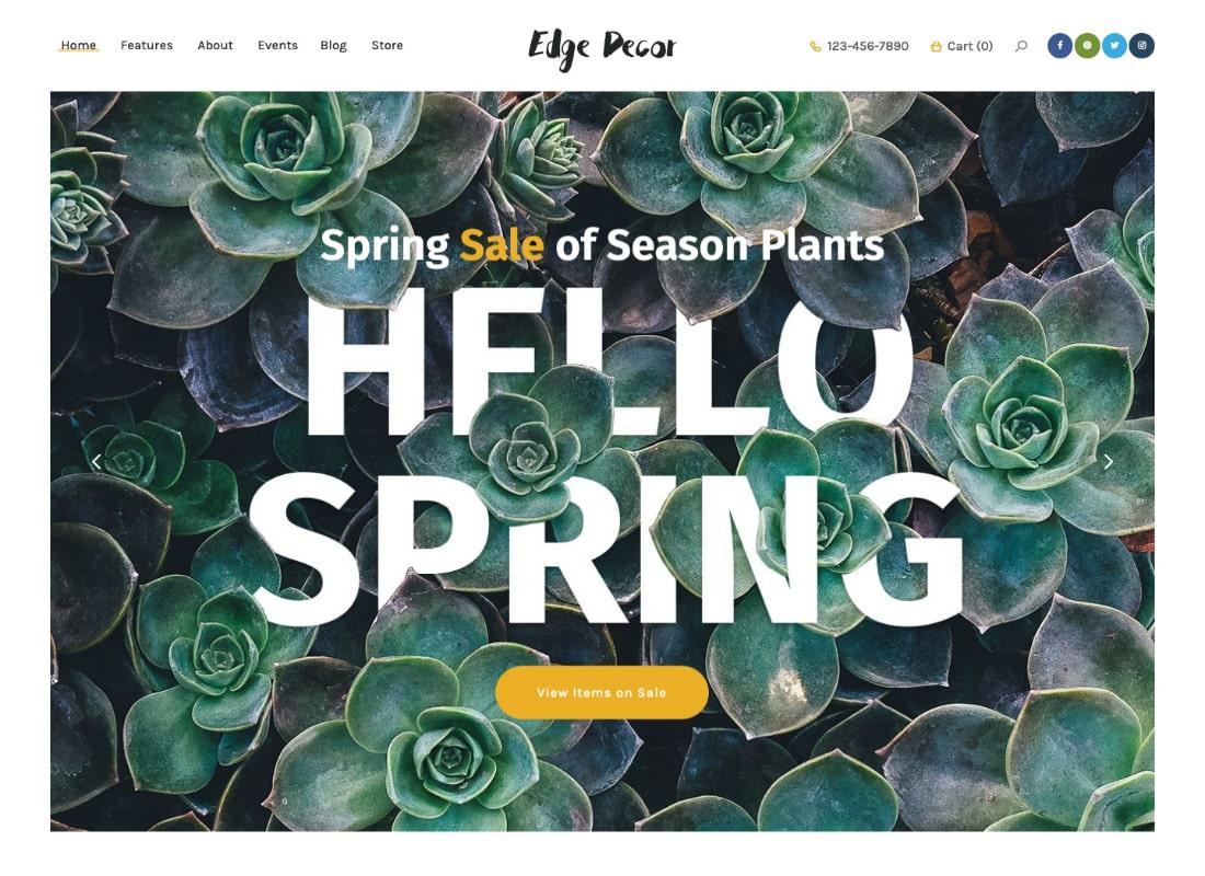 Edge Decor | A Modern Gardening & Landscaping WordPress Theme