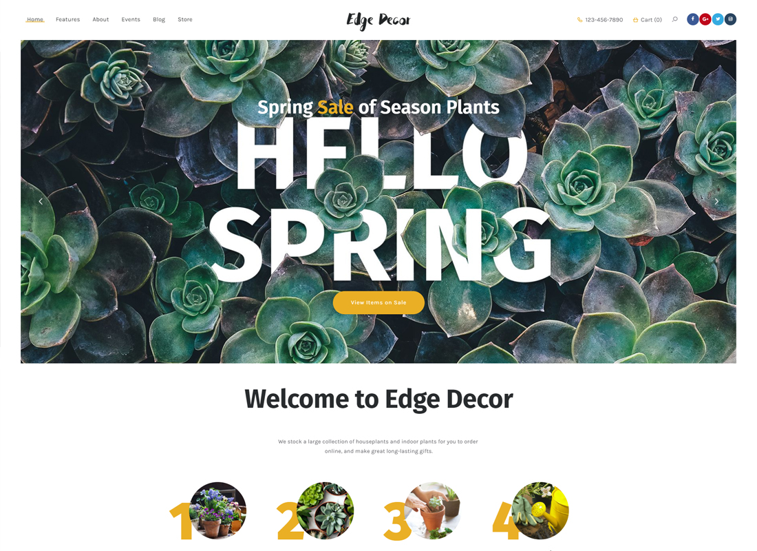 Edge Decor - A Modern Gardening & Landscaping WordPress Theme