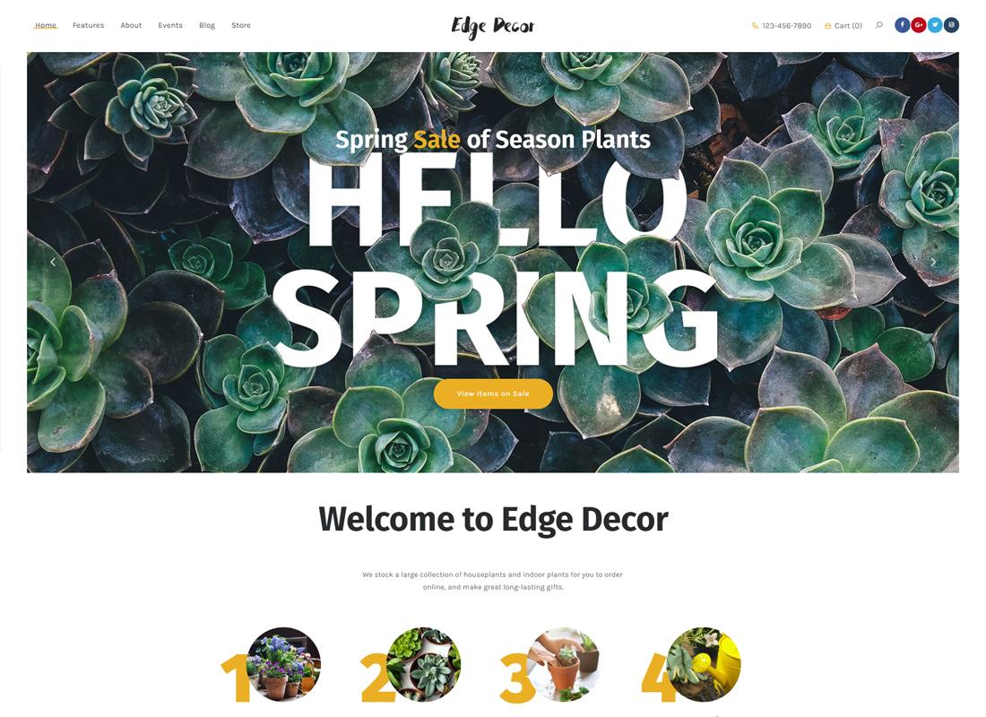 Edge Decor - A Modern Gardening & Landscaping WordPress Theme