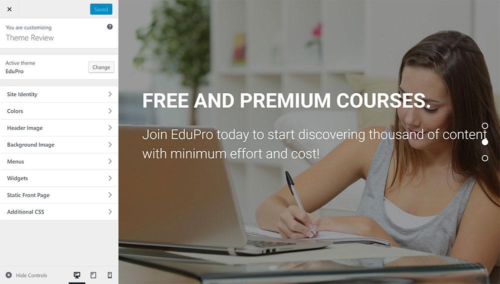 EduPro Customizer