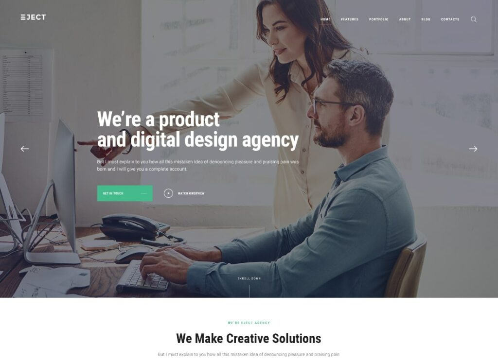 Eject | Web Studio & Creative Agency WordPress Theme