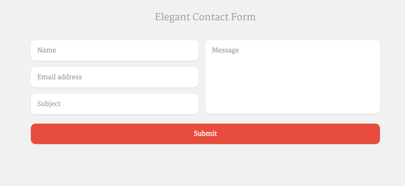 Delightful Top 16 Free HTML5 U0026 CSS3 Contact Form Templates 2017