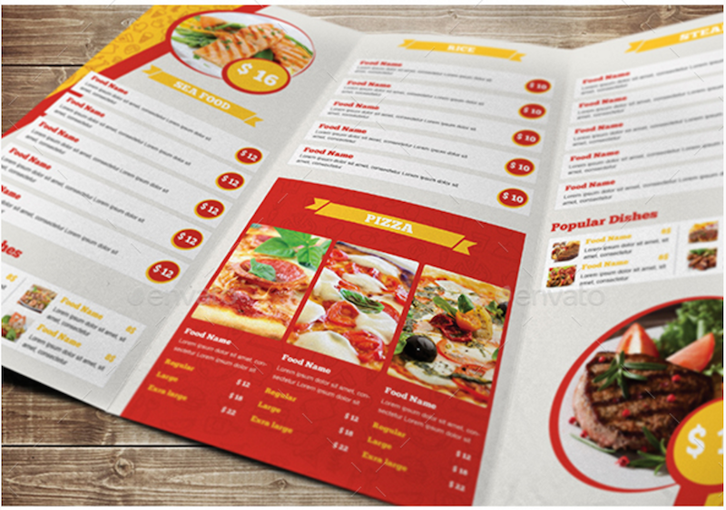 Good Elegant Restaurant Trifold Menu Within Free Downloadable Restaurant Menu Templates