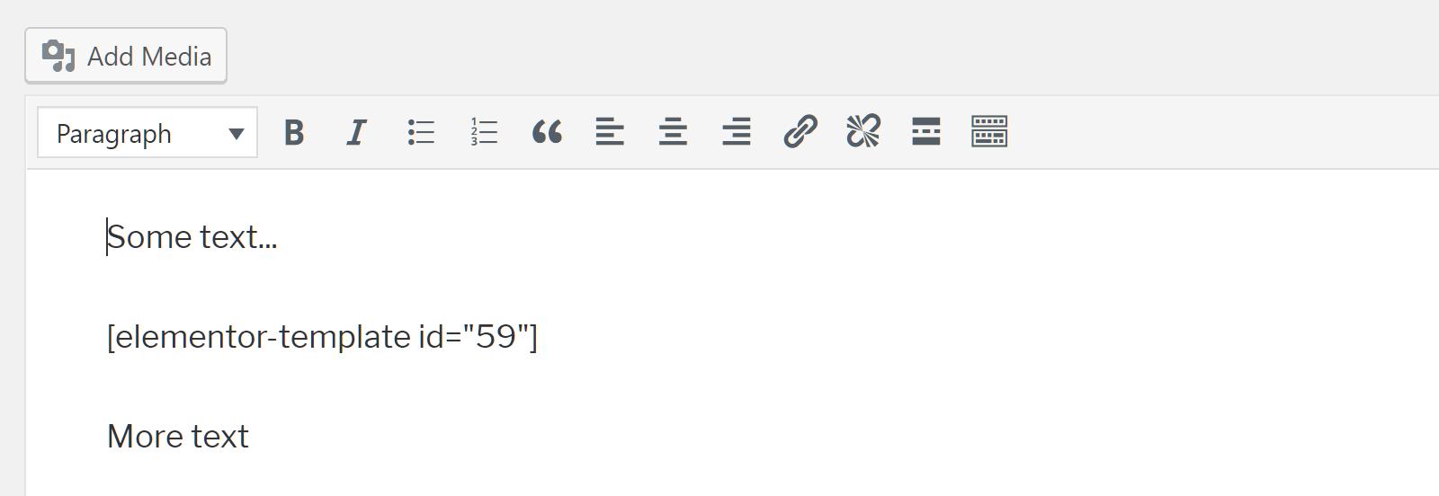 Código corto en texto