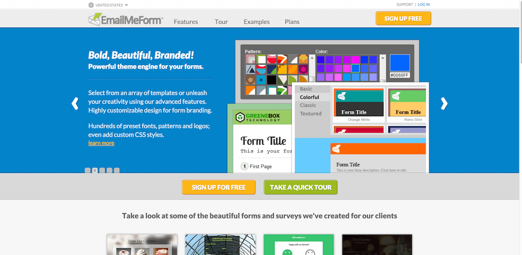 EmailMeForm Online Form Builder. Online Surveys Web Forms