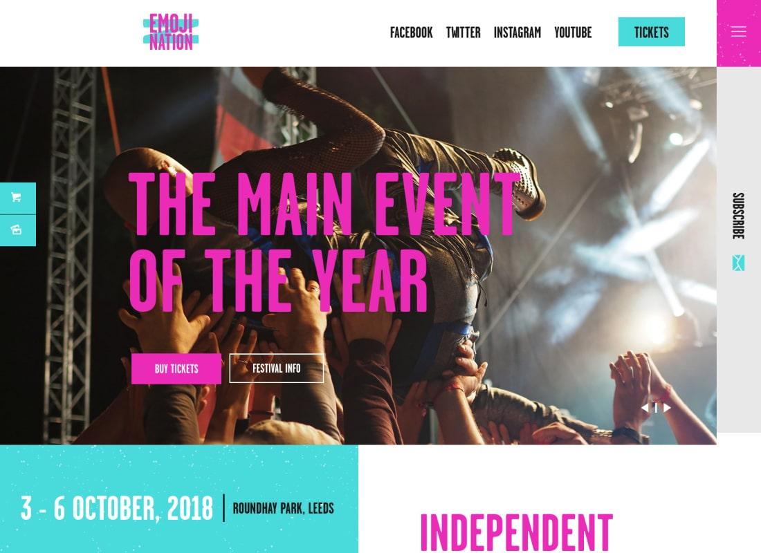 EmojiNation | Night Club & Concert WordPress Theme