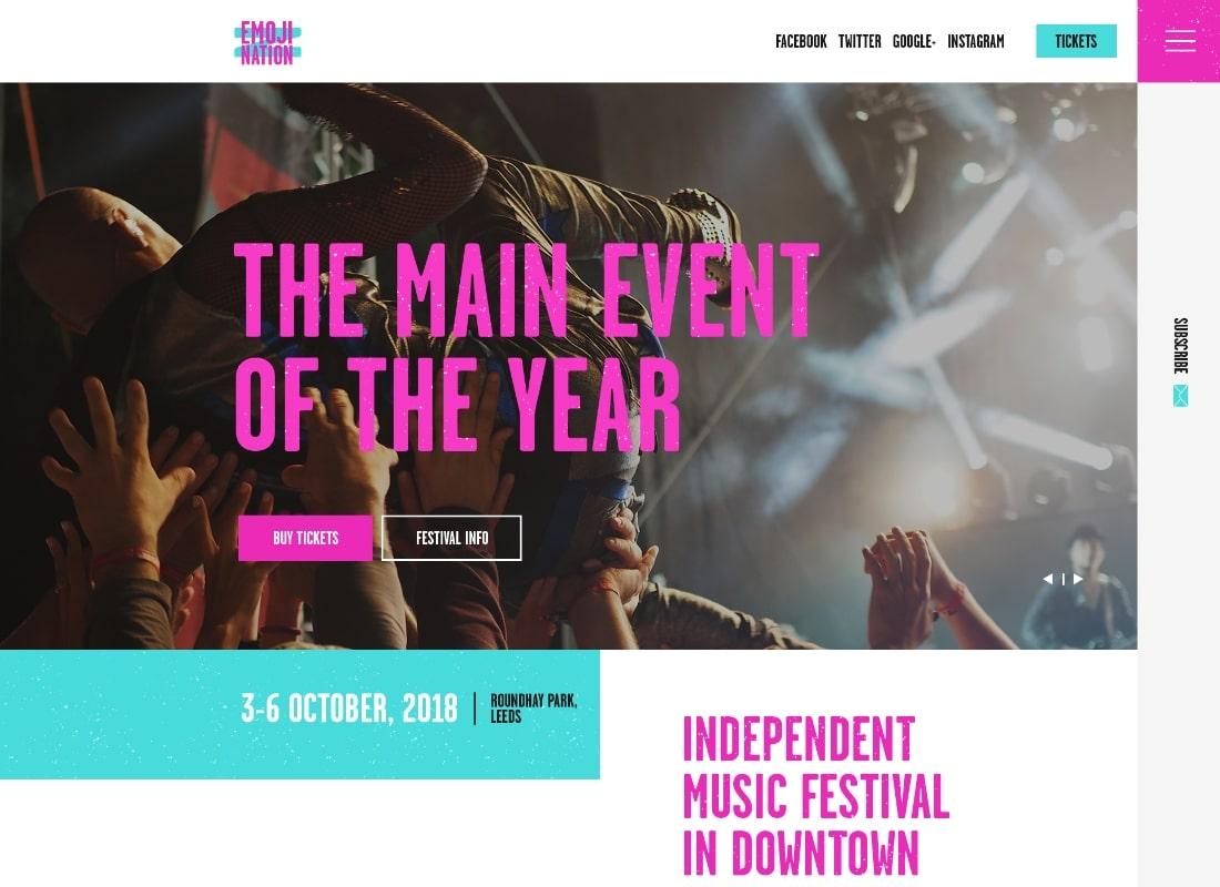 EmojiNation | Night Club & Concert Event WordPress Theme