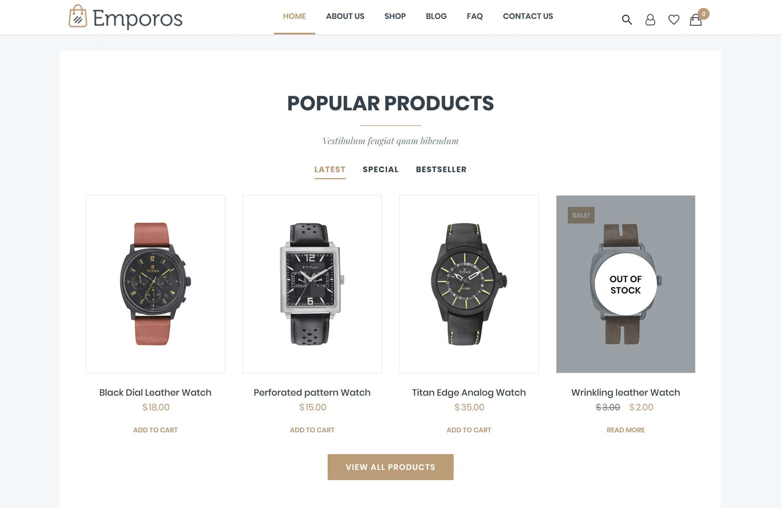 Emporos Theme Product Display