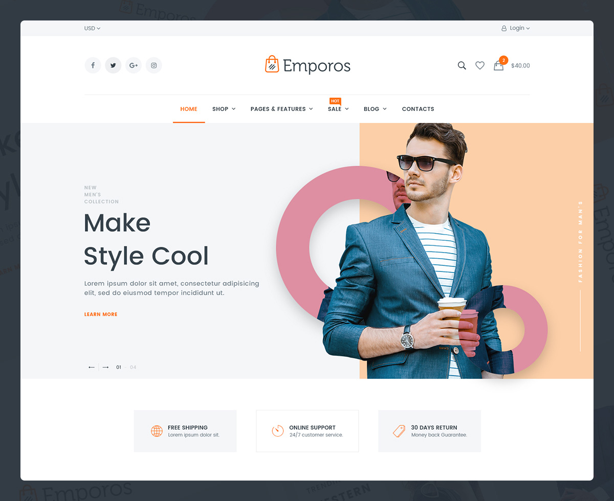 f1565c888 This theme is suitable for any kind of shopping business: big or small.  Emporos can handle: handmade products as well as ...