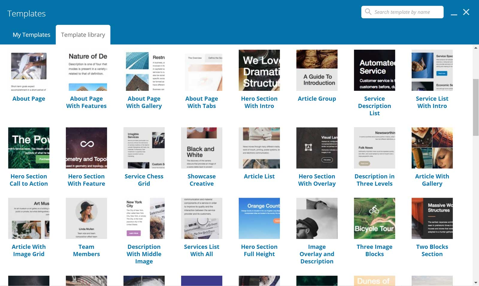 Page Builder Templates