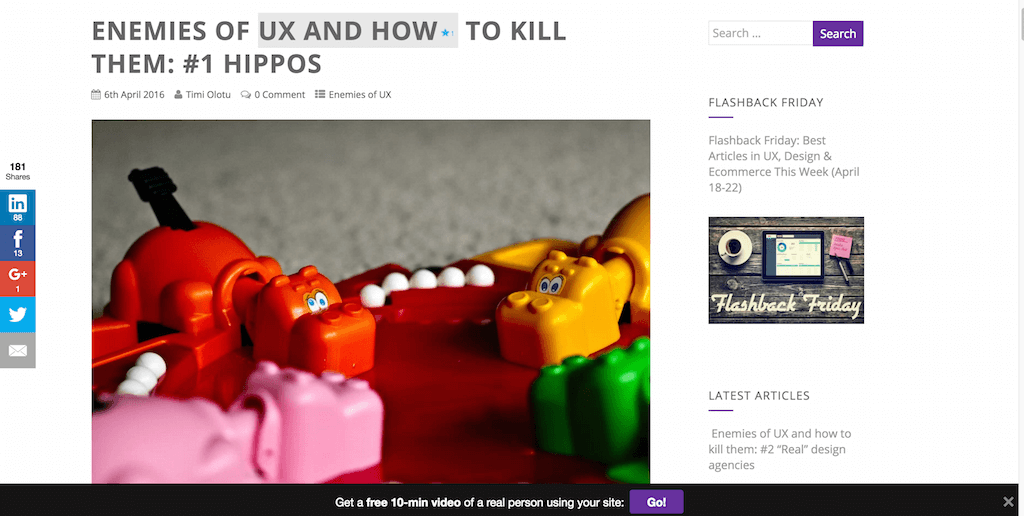 Enemies of UX and how to kill them