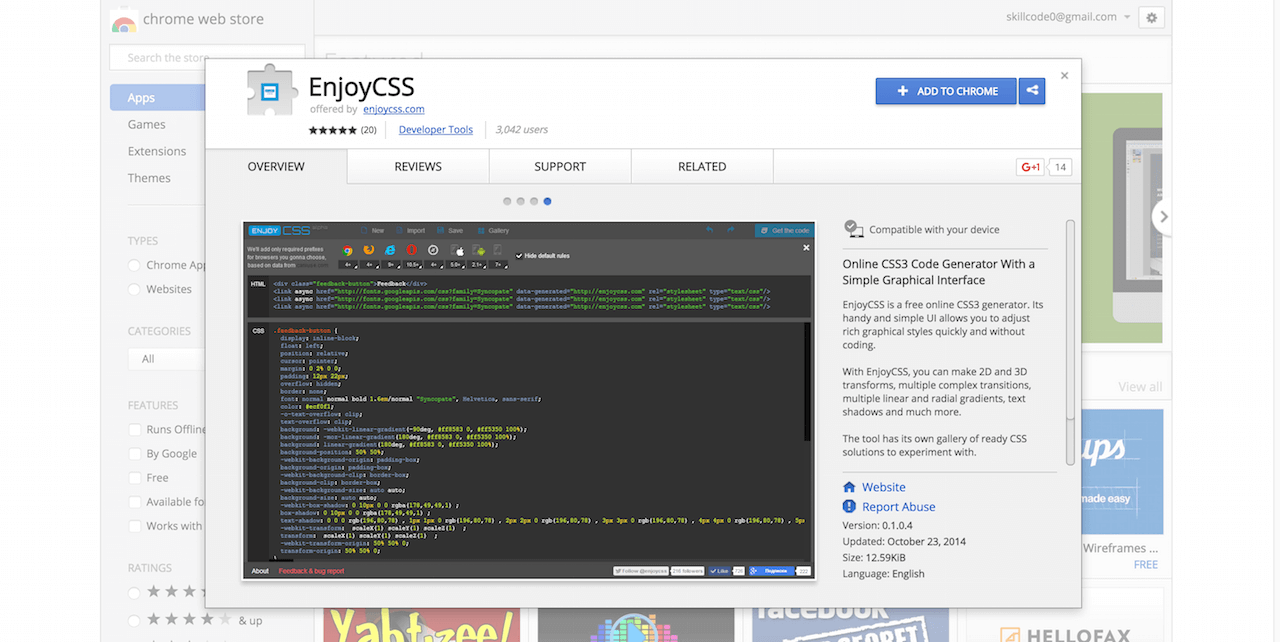 EnjoyCSS Chrome Web Store