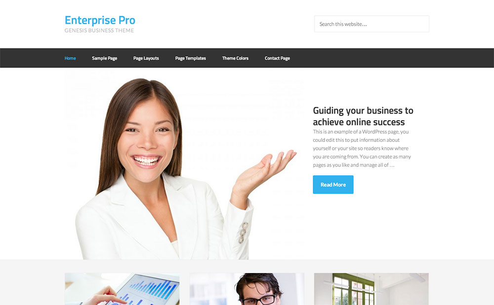 Enterprise corporate theme