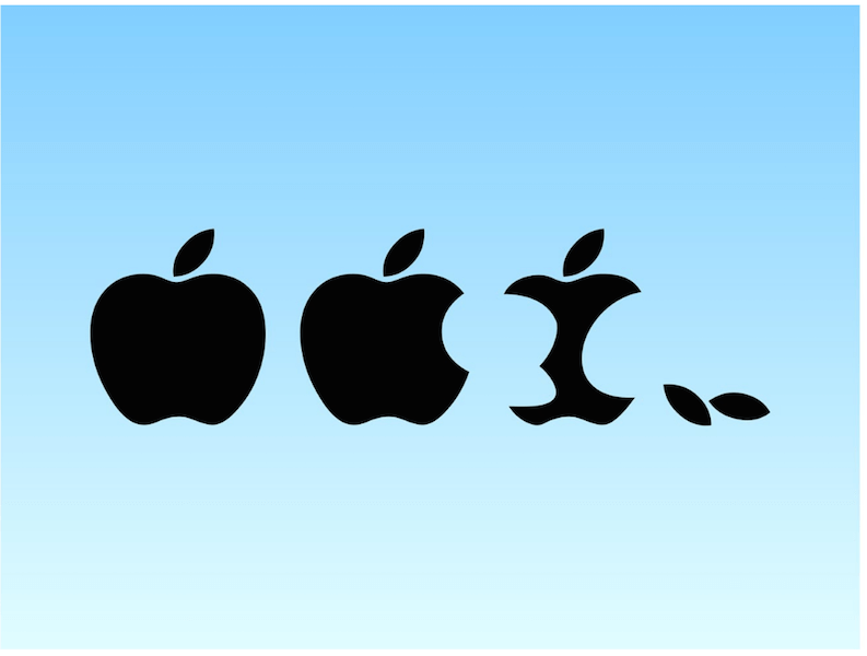 Entertaining Apple Logo Vector