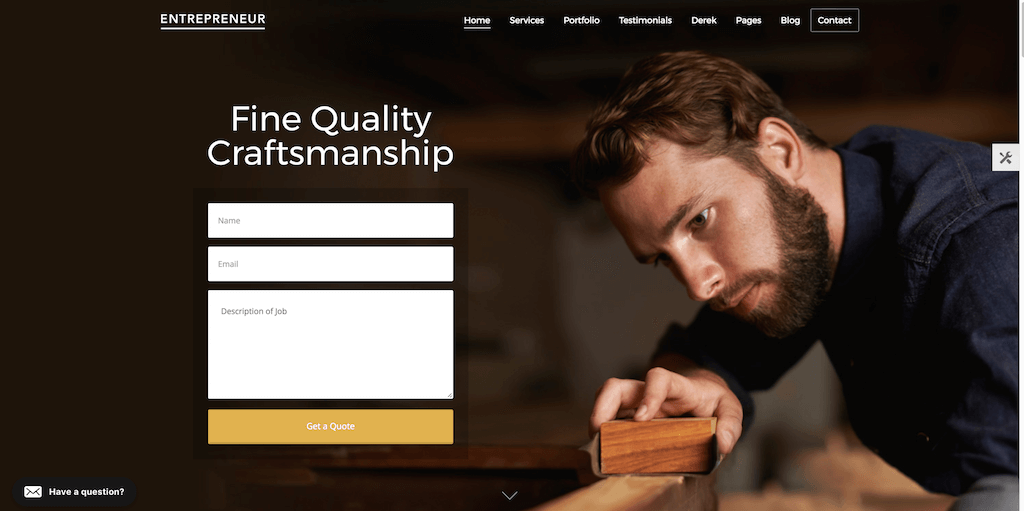 Entrepreneur - creative business theme with appointment booking