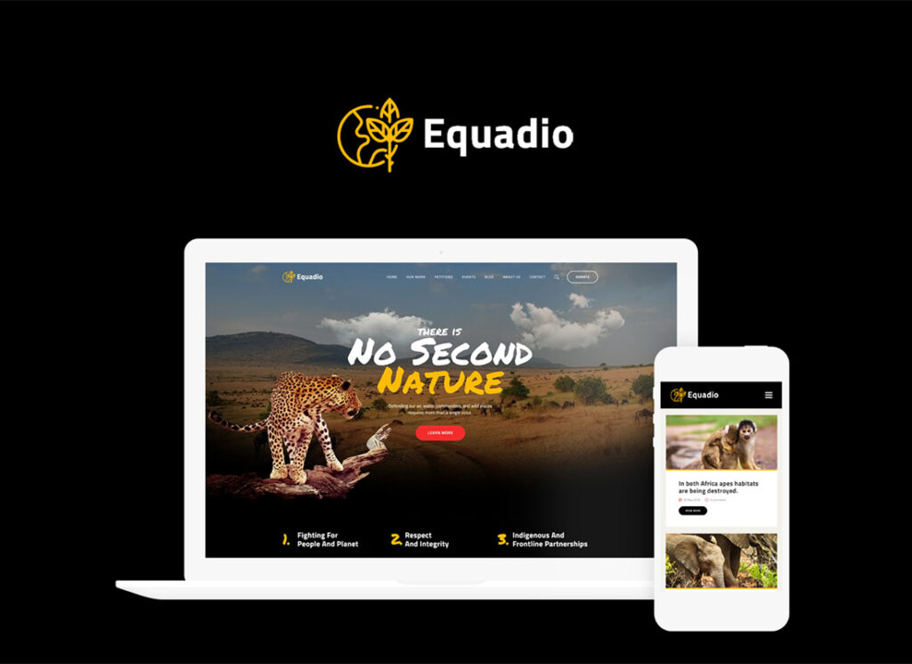 Equadio   Non-Profit and Environmental WordPress Theme