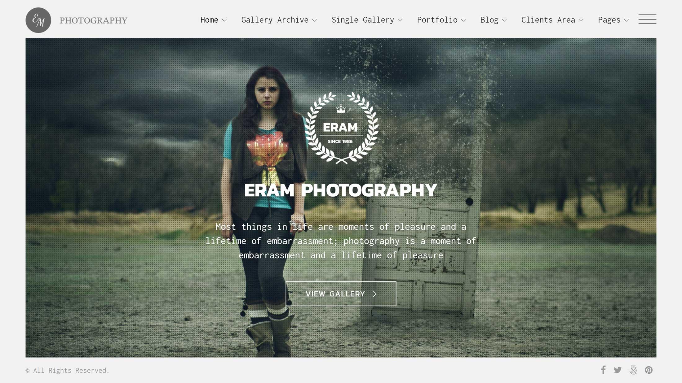 Eram Theme Review: Create A Professional Photography Portfolio With WordPress