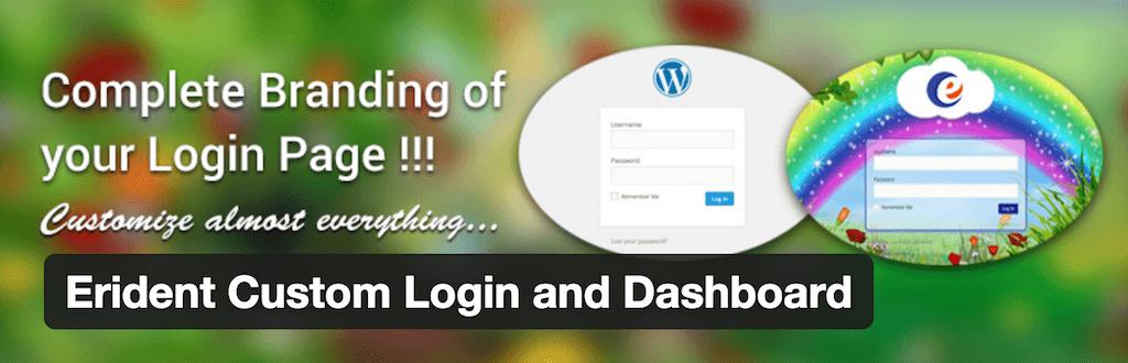 Erident Custom Login and Dashboard — WordPress Plugins