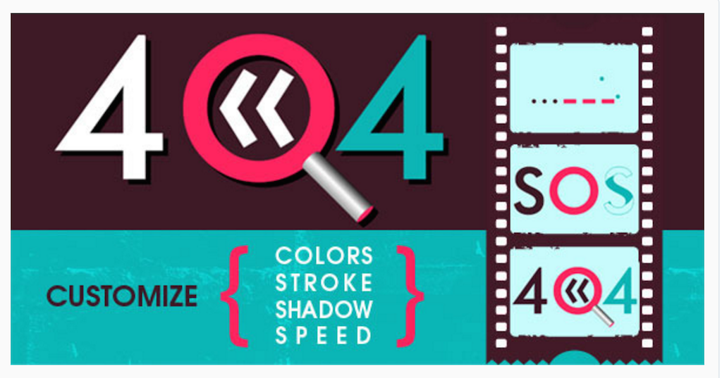 Error Code 404 Animated SVG