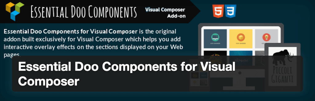 Essential Doo Components for Visual Composer — WordPress Plugins