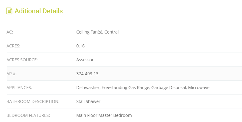 EstateMLS Additional Details