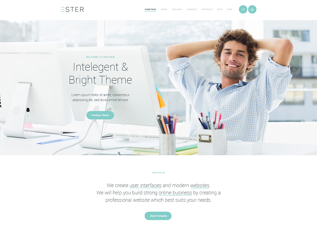 Ester - A Stylish Multipurpose WordPress Theme