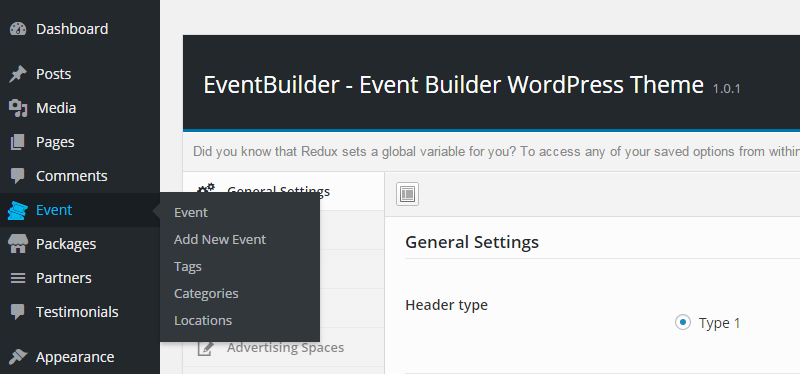 EventBuilder Custom Post Types