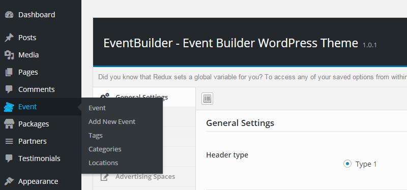 EventBuilder Custom Post Types
