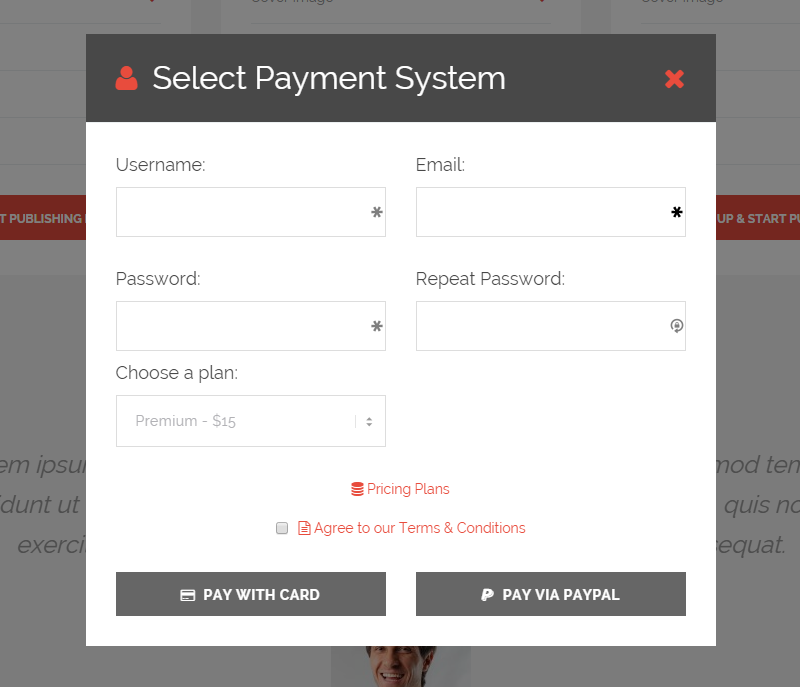 EventBuilder Payment Form