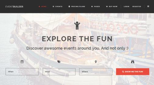 EventBuilder WordPress Theme Review