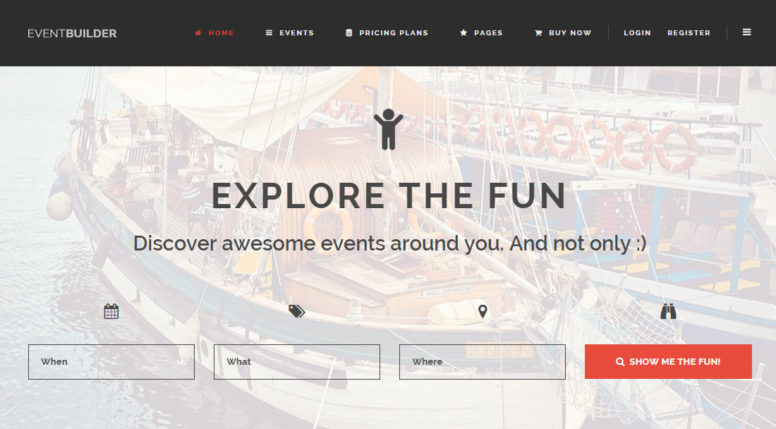 EventBuilder WordPress Theme Review