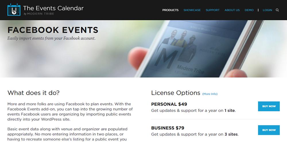 Events Calendar Facebook Pro