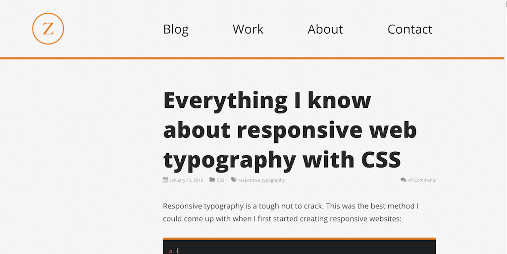 Everything I know about responsive web typography with CSS — Zell Liew