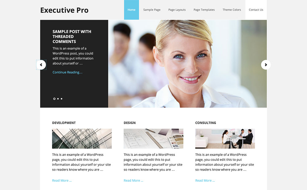 Executive corporate child theme