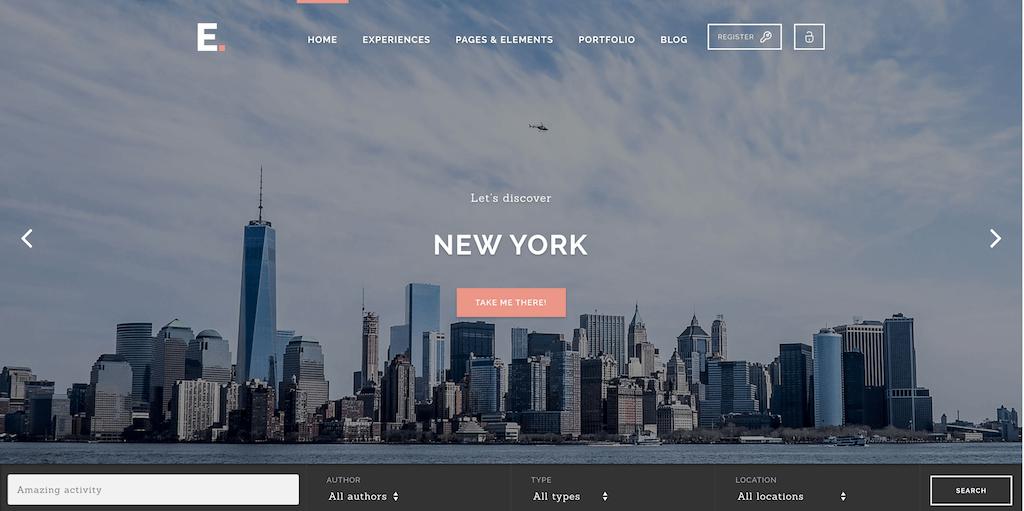 Experience - Booking WordPress theme