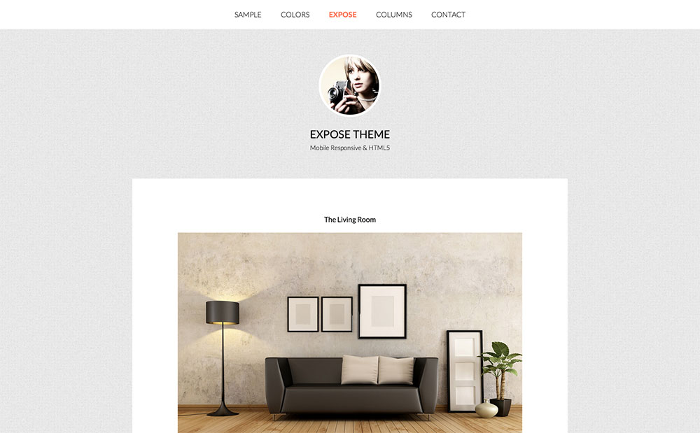 Expose photography blog theme