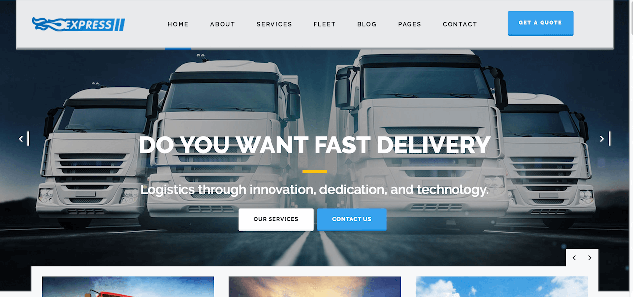 Express Logistics – Transport Logistics WP Theme – Just another WordPress site