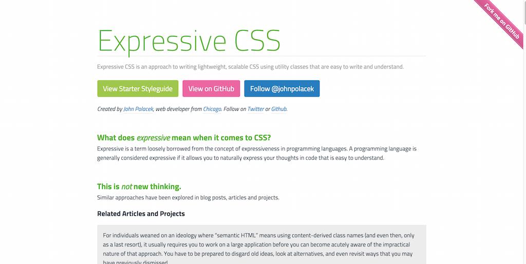 Expressive CSS