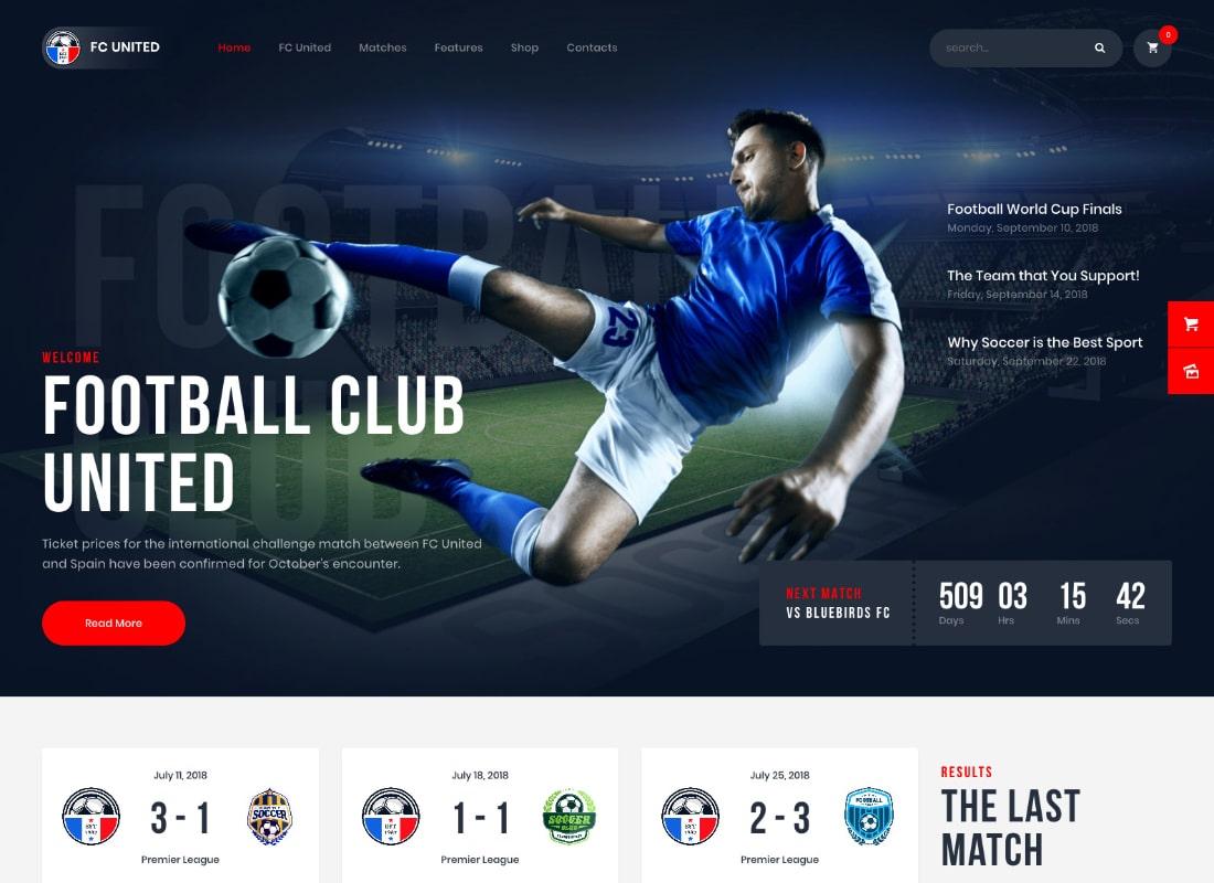 FC United | Football, Soccer, Sports WordPress Theme